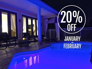 20% OFF JAN-FEB!! - REUNION RESORT AWARD WINNING VILLA - Views, Space, Luxury - Reunion vacation rentals