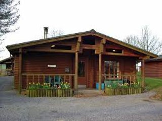 Cosy log cabin in Welsh woodland resort with with pool, gym, restaurant and bar - Llanfynydd vacation rentals