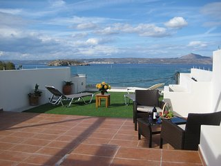 Apartment with superb sea view next to the beach - Almyrida vacation rentals