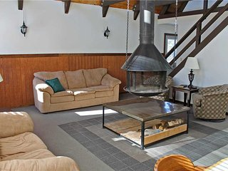 Located at Base of Powderhorn Mtn in the Western Upper Peninsula, A Cozy Home with Great View of Ski Hill & Unique Hanging Fireplace - Ironwood vacation rentals