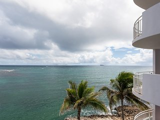 LIGHTHOUSE 3B...Stunning views, luxury oceanfront condo, short walk to - Dawn Beach vacation rentals