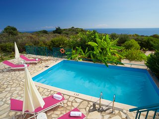 IDEAL FAMILY RETREAT IN SKALA WITH AMAZING SEA VIEWS (G) - Skala vacation rentals