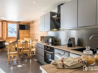 Val Thorens Nazca C8: Modern apartment rental, direct track access, 10 pers - Val Thorens vacation rentals