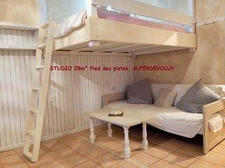 Studio 28 m2, pieds des pistes, avec balcon - Le Devoluy vacation rentals