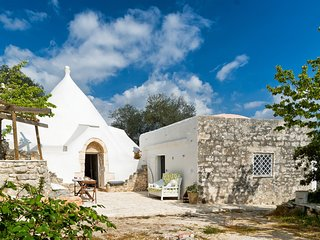 Stunning trullo villa in Apulia, near Brindisi, w/ 1 bedroom, huge, fenced garden and terrace - Ceglie Messapica vacation rentals