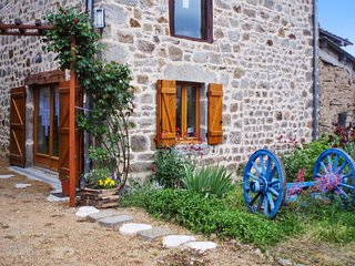 Rustic house near the medieval town of Thiers, with mountain-view terrace & central heat - sleeps 10 - Sermentizon vacation rentals