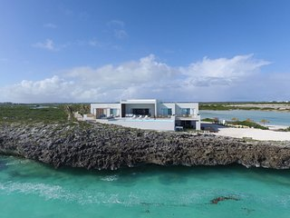 Luxurious Ocean Front Villa, Tip of the Turtle Tail, Private & Secluded - Grace Bay vacation rentals