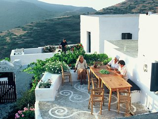 Traditional Cycladic house in a mountain village with sea views - Aegiali vacation rentals