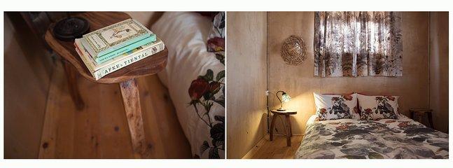 Bedroom of the two bedroom desert chalet of Tobiana in Ezuz  - Tobiana guest houses in Ezuz - Ezuz - rentals