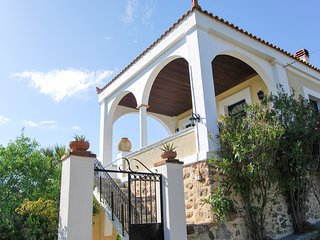 Sunny, 5-bedroom villa with WiFi and spectacular views of the Aegean Sea - 250m from the beach! - Volissos vacation rentals