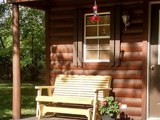 Cozy cabin sleeps 4 - quiet setting at crossroads of Katy and Rock Island Trails - Windsor vacation rentals