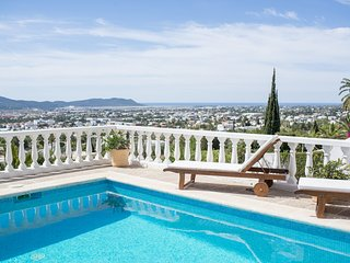 Beautiful villa with views of Ibiza town, 5 minutes to Playa Den Bossa - Ibiza Town vacation rentals