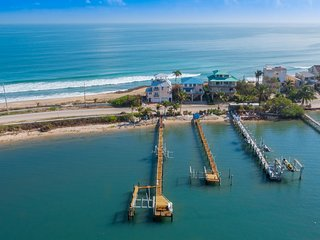 """As Good as it Gets"":  The 5-Star FL Beach House ON the beach. Ocean+River+Dock! - Stuart vacation rentals"