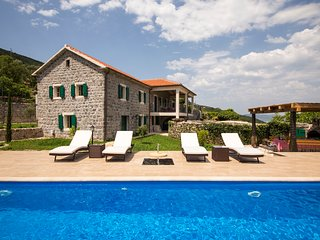 Luxury villa with pool, garden and spectacular sea and mountain views - Lustica vacation rentals