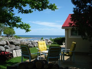 Cozy year-round Thornbury riverfront cottage- walk to everything - Carlton Place vacation rentals