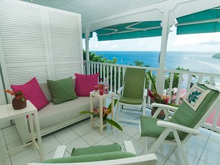 VILLA BLANCHE APPART. TERRASSE VUE MER remarquable - Les Anses d'Arlet vacation rentals