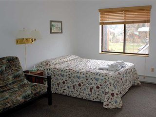 Hotel Style Room with Kitchenette, Futon and Full Bath at Three Rivers Resort in Almont (Lodge Room F) - Almont vacation rentals