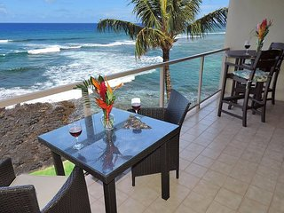 """Kuhio Shores 418 - Oceanfront Two Bedroom """"Penthouse"""" Poipu Condo - Poipu vacation rentals"""