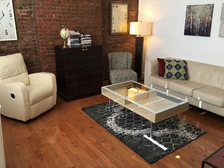Brick 2BR Flat w/Private Patio, Minutes to NYC! - Hoboken vacation rentals