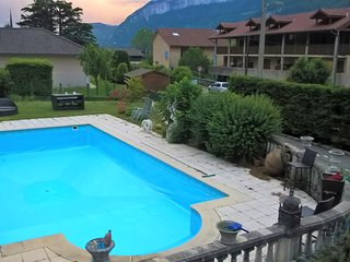 House with 2 rooms in Voreppe, with wonderful mountain view, private pool, furnished garden - Voreppe vacation rentals