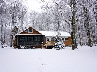 Cozy Mountain Log Cabin—Sleeps 10, Upgraded Kitchen, WiFi, Private Lake Access! - Thornhurst vacation rentals