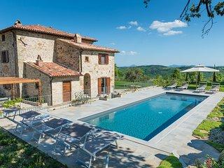 Chiesa Piantrano - stunning 16th century, newly restored hilltop villa in Umbria - Monte Santa Maria Tiberina vacation rentals