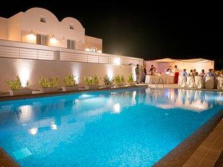 PRIVATE -SEA FRONT VILLA  WITH POOL  by Santorini Fira beach! - Karterados vacation rentals