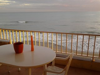 Beach-front, spectacular views, 6th floor, close to Barcelona, - Calafell vacation rentals