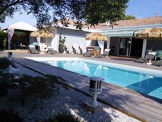 """""""Caraïbe"""" grande villa 150 m2 avec piscine chauffée à 28° et SPA - Ares vacation rentals"""