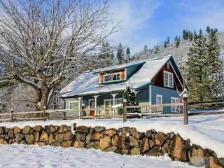 Historic waterfront farmhouse w/river access & mountain views, dogs OK! - Klickitat vacation rentals
