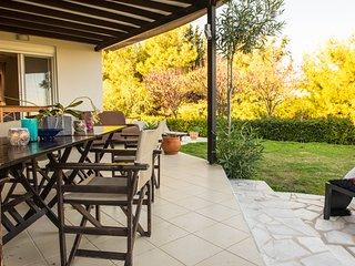 Koukounari Villa with panoramic sea view and private pool - Koskinou vacation rentals
