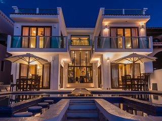 Large oceanfront villa, offering breakfast, golf cart and resort passes. - Puerto Aventuras vacation rentals