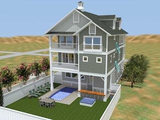 Carolina Shores Brand New 6 Bedroom Oceanfront Home w/ Cabana Beach Service - Nags Head vacation rentals