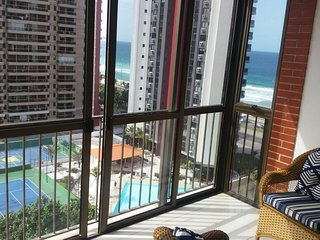 Apartment with 2 rooms in Rio de Janeiro, with wonderful sea view, pool access, enclosed garden - Itanhanga vacation rentals