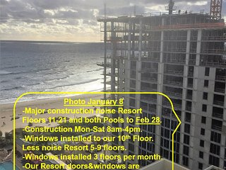 CONSTRUCTION RATES to Feb 28, 14-21st floor, Marriott Resort Spa-OwnerCondos - Singer Island vacation rentals