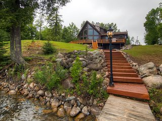 Beautiful 3BR Lakefront Cottage in the Upper Peninsula - Peaceful Setting w/Cobblestone Fire Pit & Private Dock! *DISCOUNTED MONTHLY RATES - BOOK NOW* - Iron River vacation rentals