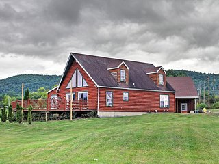 NEW! Lakefront 4BR Ticonderoga 'Log Chalet' on 8 Acres - Ticonderoga vacation rentals