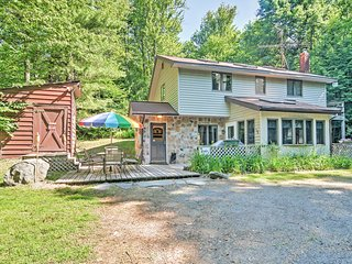 Charming & Secluded 3BR Pocono Lake Cottage w/ Hot Tub, Firepit & Sunroom - Central to All Pocono Mountain Resort Attractions & 5 Minutes from Pocono Raceway! - Pocono Lake vacation rentals