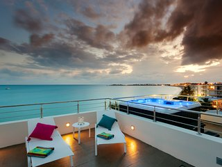 Le Papillon Penthouse - Stunning, modern beachfront unit with private roof top - Simpson Bay vacation rentals