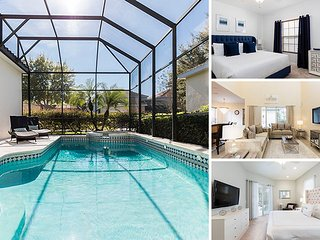 Homestead Getaway | Luxury 5 Bed Southwest facing Villa featuring a Harry Potter Theme Games Room, Star Wars and Frozen Theme Bedrooms, Private Pool, and Spillover Spa - Reunion vacation rentals