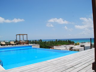 Beautiful 3 bdrm home with rooftop views of the Caribbean. 1 block from beach - Playa del Carmen vacation rentals