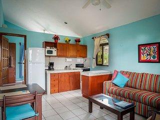 BALCONY STYLE LIVING, WALK TO TOWN & BEACH, HAMMOCKS, BIKES, POOL & HOTTUB. - Puerto Morelos vacation rentals