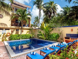 private balcony overlooking the pool, peaceful apartment with great amenities - Puerto Morelos vacation rentals