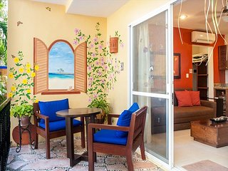 Private patio overlooking the pool. Two minute stroll to the beach. - Puerto Morelos vacation rentals