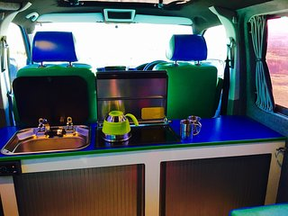 Camper Van Motor Caravan  VW T5 LWB, with ALPINE AudioVisual system - Ketton vacation rentals