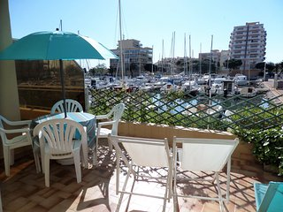 canet plage, terrasse sur le port - Canet-Plage vacation rentals