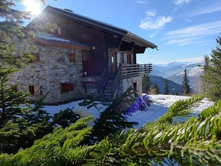 Bright 9 bedroom Peisey-Nancroix Chalet with Deck - Peisey-Nancroix vacation rentals