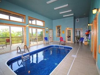 Poolside Paradise in the Smokies! Cabin w/ Private Indoor, Heated Pool, Mtn View - Wears Valley vacation rentals