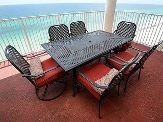 Gulf front 4 bedroom 4 bath sleeps 12 double master on Gulf + HUGE BALCONY - Panama City Beach vacation rentals
