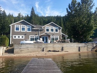Serene lakefront home with 80 ft frontage and private wharf - Sicamous vacation rentals